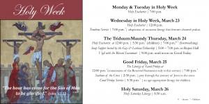 Holy Week 2016 Slides